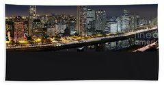 Sao Paulo Iconic Skyline - Cable-stayed Bridge  Beach Towel