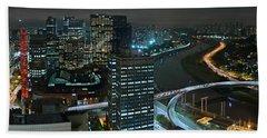 Sao Paulo Skyline Modern Corporate Districts Brooklin Morumbi Chacara Santo Antonio Beach Sheet