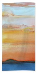 Sapphire Sunrise Autumn Beach Towel