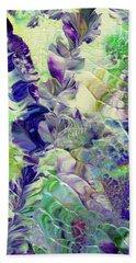Sapphire Violet Beach Towel