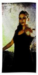 Beach Towel featuring the digital art Sarah 1 by Mark Baranowski