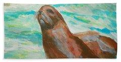 Sassy Seal Beach Towel