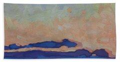 Saturday Stratocumulus Sunset Beach Towel