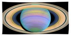 Saturn's Rings In Ultraviolet Light Beach Sheet