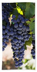 Sauvignon Grapes Beach Towel by Garry Gay