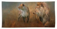 Savanna Lions Beach Towel