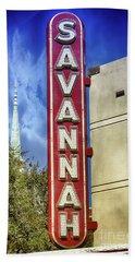 Savannah Landmarks Beach Towel