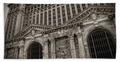 Save The Depot - Michigan Central Station Corktown - Detroit Michigan Beach Towel by Gordon Dean II