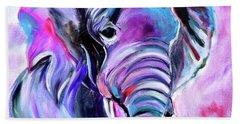 Save The Elephants Beach Towel by Jenny Lee