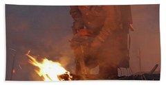 Sawyer, North Pole Fire Beach Sheet by Bill Gabbert