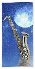 Saxophone Beach Towel