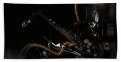 Saxophone Jazz Beach Towel