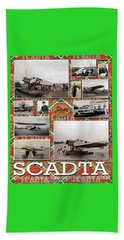 Scadta Airline Poster Beach Towel