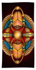 Scarab Beetle Design Beach Towel