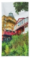 Scarborough Cliff Lift By Mb Beach Towel