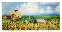 Scarecrow Farm Beach Sheet