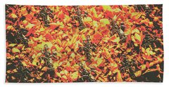 Scarecrows From Fires Burn  Beach Towel