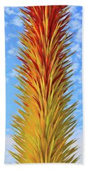 Scarlet And Yellow Icicle Tower # 3 Beach Towel