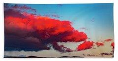 Scarlet Clouds Beach Towel