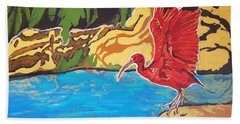 Scarlet Ibis Beach Sheet