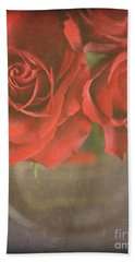 Beach Towel featuring the photograph Scarlet Roses by Lyn Randle