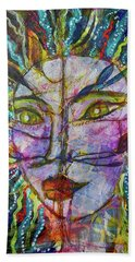 Beach Towel featuring the mixed media Scarred Beauty by Mimulux patricia No