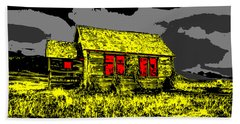 Scary Farmhouse Beach Towel
