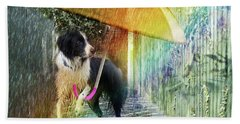 Beach Towel featuring the photograph Scary Graffiti by LemonArt Photography