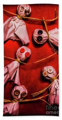 Scary Halloween Lollipop Ghosts Beach Towel