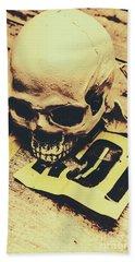 Scary Human Skull Beach Towel