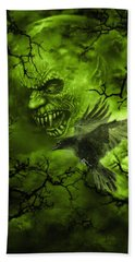 Scary Moon Beach Towel