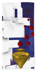 Beach Towel featuring the digital art Scene 1 by Alberto RuiZ