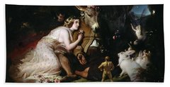 Scene From A Midsummer Night's Dream Beach Towel by Sir Edwin Landseer