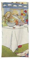 Scene From The Story Of Goldilocks And The Three Bears Beach Towel