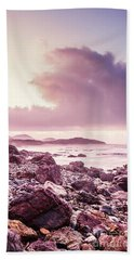 Scenic Seaside Sunrise Beach Towel