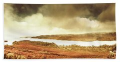 Scenic Southwest Tasmania Lakes Beach Towel