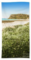 Scenic Stony Seashore Beach Towel