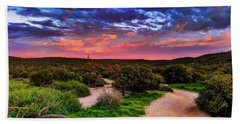 Beach Towel featuring the photograph Scenic Trailhead by Anthony Citro