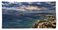 Scenic View Of Eastern Crete Beach Sheet