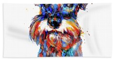 Schnauzer Head Beach Towel