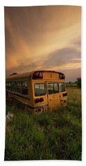 Beach Towel featuring the photograph School's Out  by Aaron J Groen