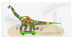 Schools Out For Dinosaurs Beach Towel