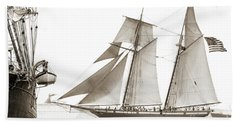 Schooner Lynx Full Sail Beach Sheet