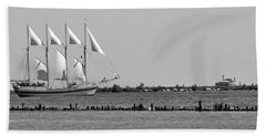 Schooner On Lake Michigan No. 1-1 Beach Towel