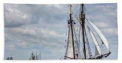 Schooner Pride Of Baltimore Beach Sheet