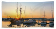 Schooners Sunburst Beach Towel by Angelo Marcialis