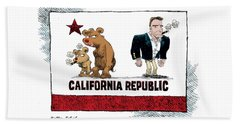 Schwarzenegger Love Child Flag Beach Towel