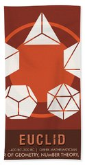 Science Posters - Euclid - Mathematician Beach Towel