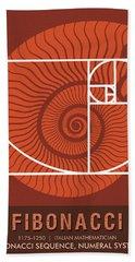 Science Posters - Fibonacci - Mathematician Beach Towel