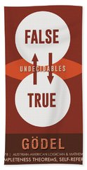 Science Posters - Kurt Godel - Mathematician, Logician Beach Towel
